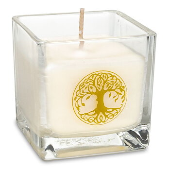 Rapeseed wax scented candle Tree of life -- 6x6x6 cm