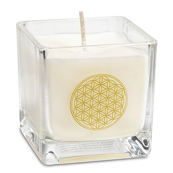 Rapeseed wax scented candle Flower of life -- 6x6x6 cm