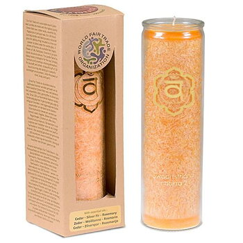 Aromatic Candle Stearin 2nd Chakra 100 hours -- 21x6.5 cm