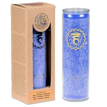 Aromatic Candle stearin 5th Chakra 100 hours -- 21x6.5 cm