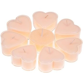 Heart shaped candles stearin jasmin -- 4x2 cm