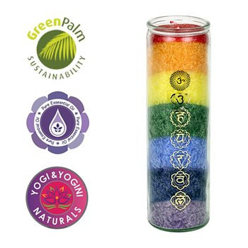 Chakra candle 7 Chakras with essential oils -- 21x6.5 cm