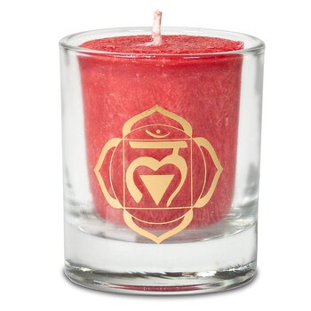 Scented votive candle 1st chakra in giftbox