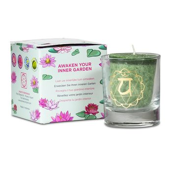 Scented votive candle 4th chakra in giftbox