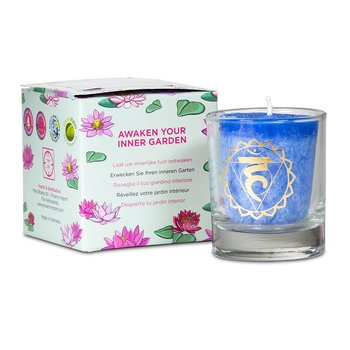 Scented votive candle 5th chakra in giftbox