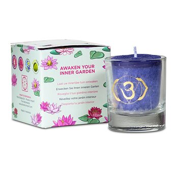 Scented votive candle 6th chakra in giftbox