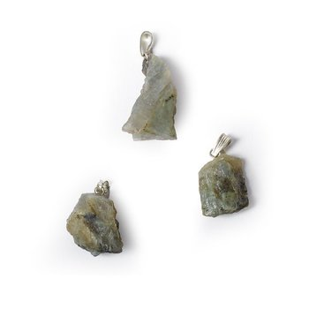Labradorite rough gemstone pendant -- ±2.5cm