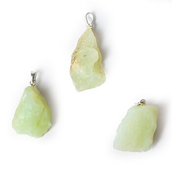 New jade rough gemstone pendant -- ±3.5cm