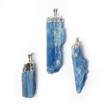 Blue kyanite gemstone pendant -- ±5cm