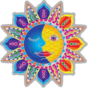 Suncatcher decal Sun Moon