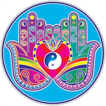 Sunseal decal Healing Hands Mandala