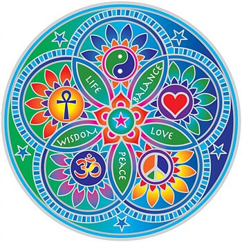 Sunseal decal Living Energies Mandala