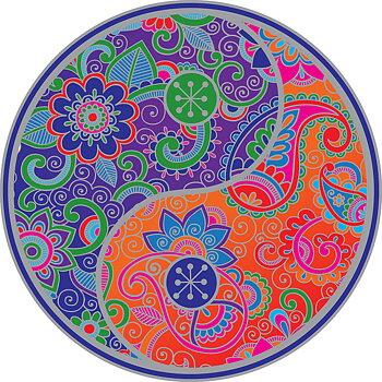 Sunseal decal Yin Yang Mandala