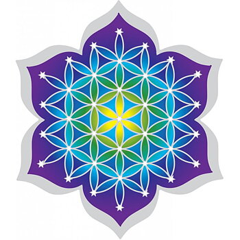 Suncatcher decal Flower of Life