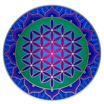 Sunseal decal Sacred Flower of Life