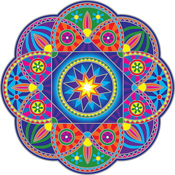 Sunseal decal Sunburst Mandala