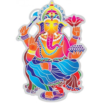 Suncatcher decal Dancing Ganesha