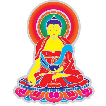 Suncatcher decal Buddha