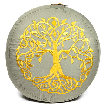 Meditation cushion tree of life organic cotton