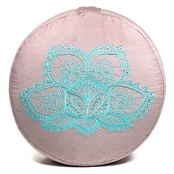 Meditation cushion lotus organic cotton