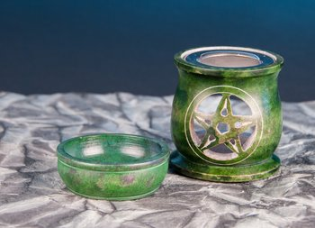 Screen vessel and aroma lamp in one - Pentagram