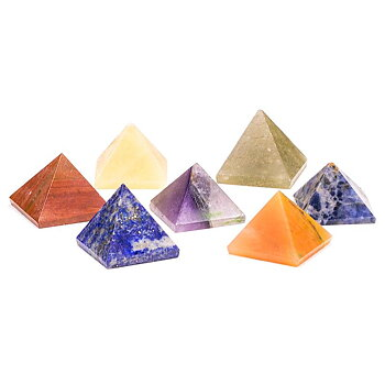 Chakra 7 stone SET pyramid-shaped