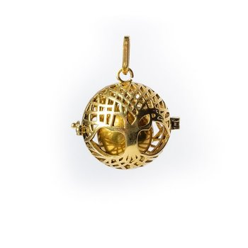 Tree of life harmony ball pregnancy pendant gold