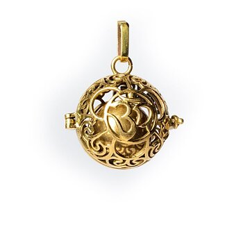 Ohm harmony ball pregnancy pendant gold