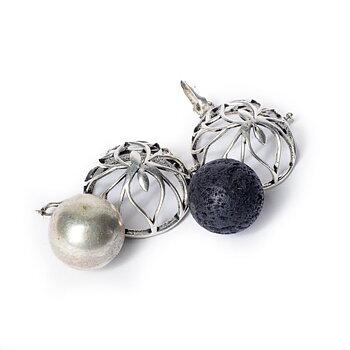 Lotus harmony ball pregnancy pendant silver