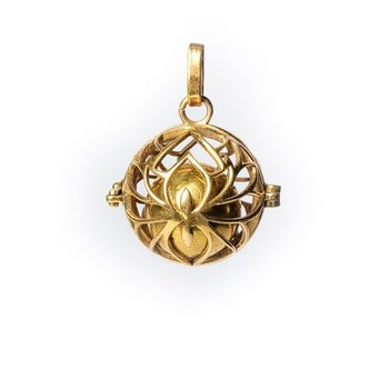 Lotus harmony ball pregnancy pendant gold