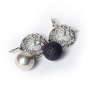 Ohm harmony ball pregnancy pendant silver