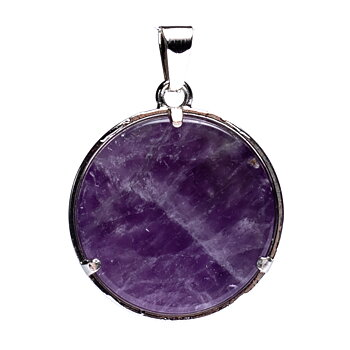 Flower of life pendant with amethyst