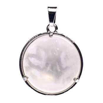 Meditation lotus pendant with rose quartz