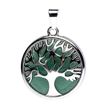 Tree of life pendant with green aventurine