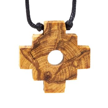 Palo Santo necklace Chakana Inca Cross -- 4 cm