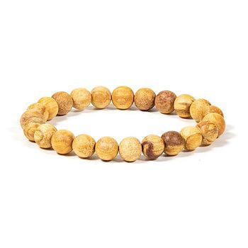 Palo Santo bracelet round beads M elastic -- 0.8 cm