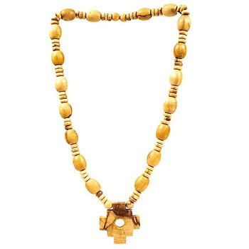 Palo Santo Shaman necklace with Inca cross -- 1.4 cm