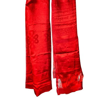 Katha Tibetan shawl red XL