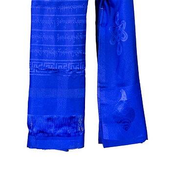 Katha Tibetan shawl blue XL