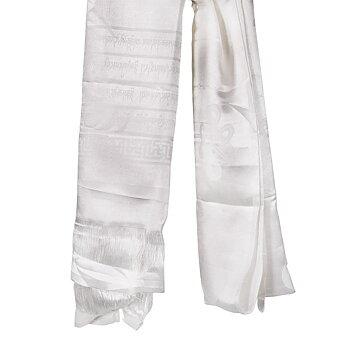 Katha Tibetan shawl white 174x54