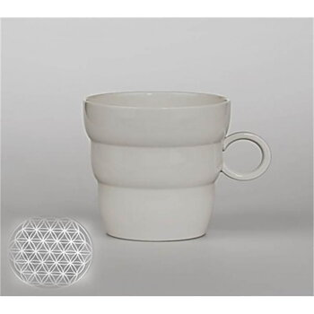 Mug Shinno with Flower of Life silver-grey -- 300 ml