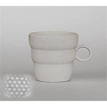 Mug Shinno with Flower of Life silver-grey -- 300 ml