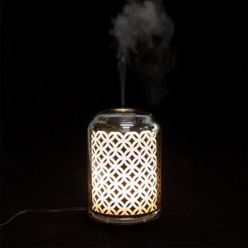 Ultrasonic aroma diffuser flower of life -Silver