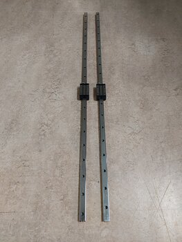 2 linearrails B=20 l=1140 mm with wagons for Deck-Machine