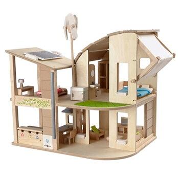 Miljøsmart dukkehus med møbler