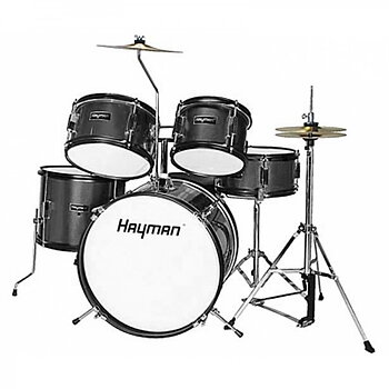 Hayman HM-50 Junior Series 5-pcs Drumset Black