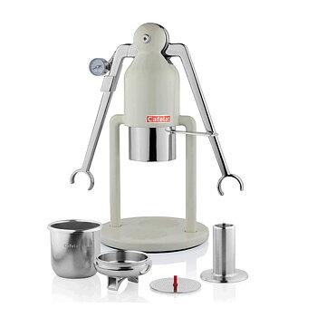Cafelat - Robot espressomaskin - Manuell espressomaskin - Creamy White