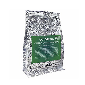 Gringo Nordic - Colombia Estrella Caturra - Natural - Mellanrostade hela kaffebönor - 250g