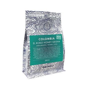 Gringo Nordic - Colombia El Roble Honey Geisha - Ljusrostade hela kaffebönor - 200g