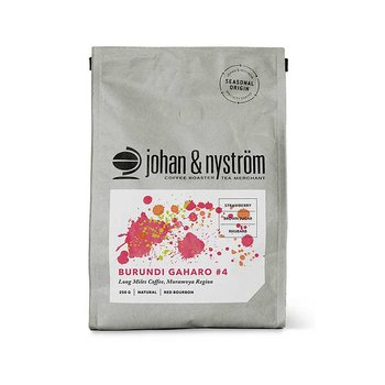 Johan & Nyström - Burundi Gaharo #4 - Ljusrostade hela kaffebönor - 250g